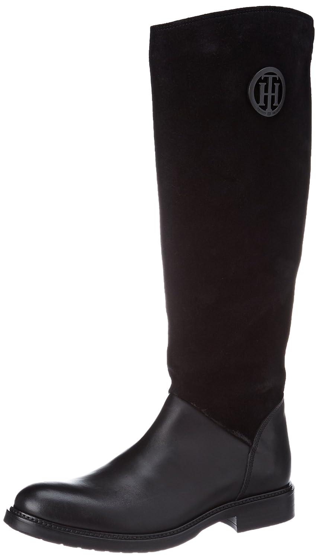 Tommy Hilfiger H1285olly 18c, Botas de Montar para Mujer38 EU|Negro (Black)