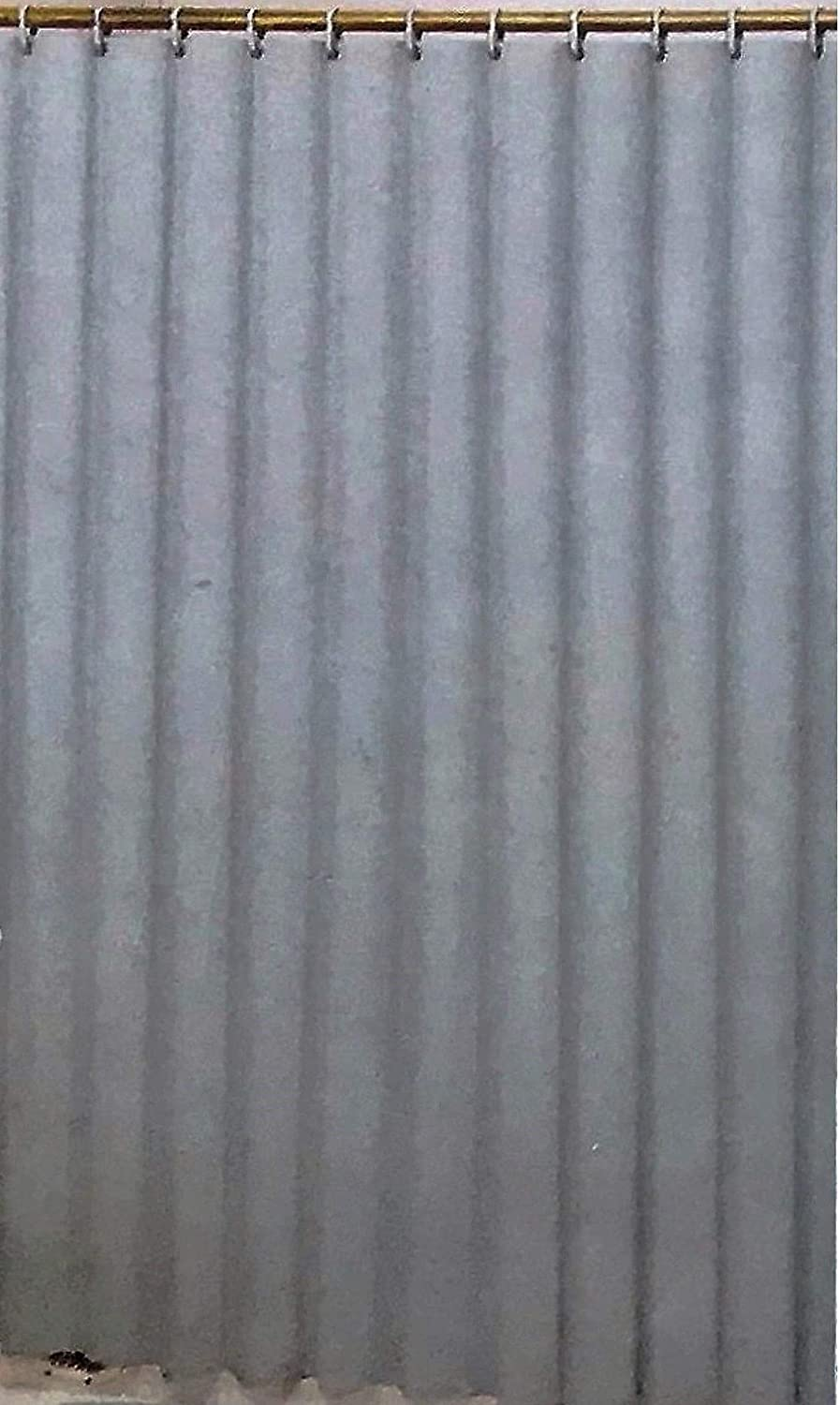 Better Home Deluxe Heavy Weight Shower Curtain Liner (Grey)