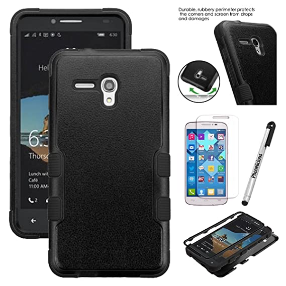 """huge discount e0ac9 0b74d For ALCATEL POP 3 (5.5"""") Case Consumer Cellular, Phonelicious [Heavy Duty]  [Shock Absorption] [Drop Protection] [Hybrid Armor] Rugged Impact Phone ..."""