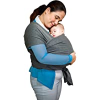 Carrier Sling for Ages 0-3years Old, Cotton Fabric, Grey, Safe for Newborns, Babies and Toddlers Until 35lbs
