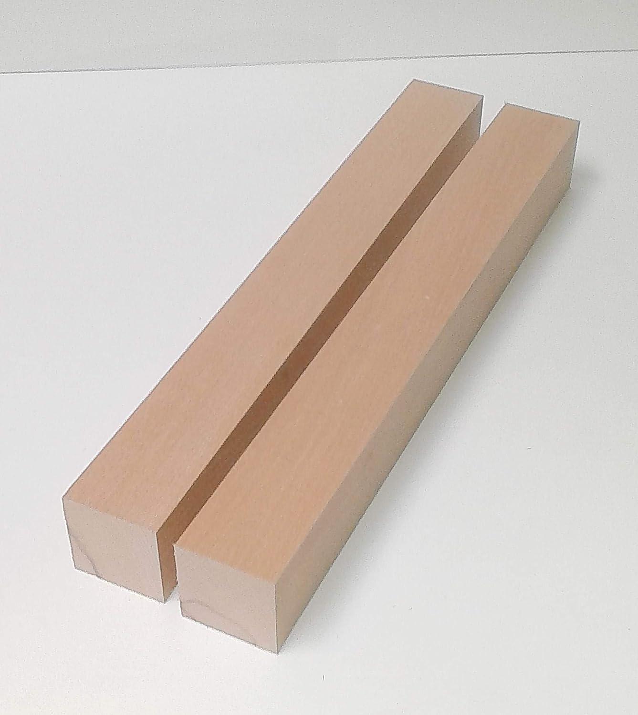 Hobelware.100-1200mm lang. 70x70x1000mm lang. 2 Tischf/ü/ße Kanth/ölzer Drechselholz Buche massiv 7x7cm stark