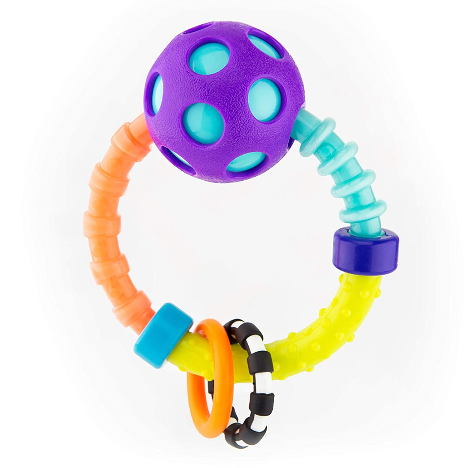 for Ages 0 Months 2 Piece Sassy My First Bend /& Flex Rattle Set
