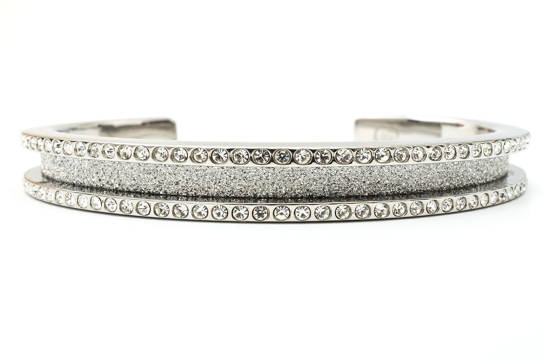 Amazon.com   Hair Tie Bracelet - Elegance by Maria Shireen - Steel Silver -  Medium   Beauty 331dfef5679
