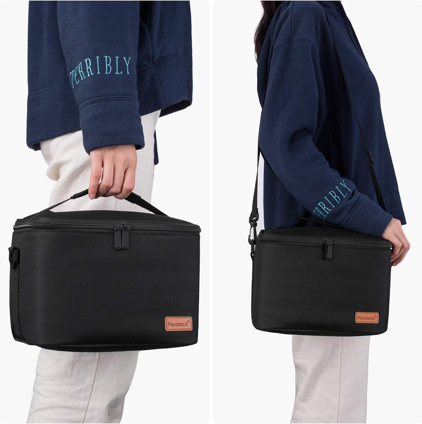 Kühltasche Faltbar Thermotasche für Die Arbeit Männer Frauen 30L - Schwarz