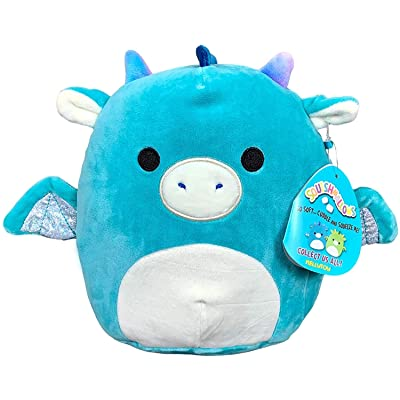 "Squishmallow Kelly 12"" Plush Toy (12"" Tatiana The Turquoise Dragon): Toys & Games"