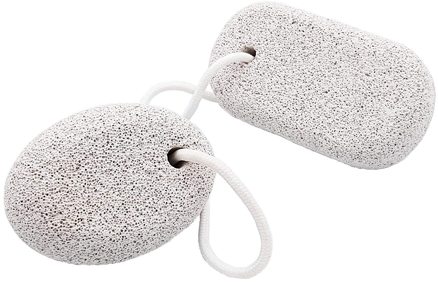 Pumice Foot Scrubber Stone 2Pcs - Pumice Stone Pedicure Tools Hard Skin Callus Remover Foot Exfoliation - Lava Natural Pumice Stone Foot Hand Scrub - Pumice Rock for feet to Remove Dry Dead Skin: Beauty