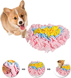GoFika Small Dogs Slow Feeding Snuffle Foraging Mat Cloth for Puppies and Pets (14