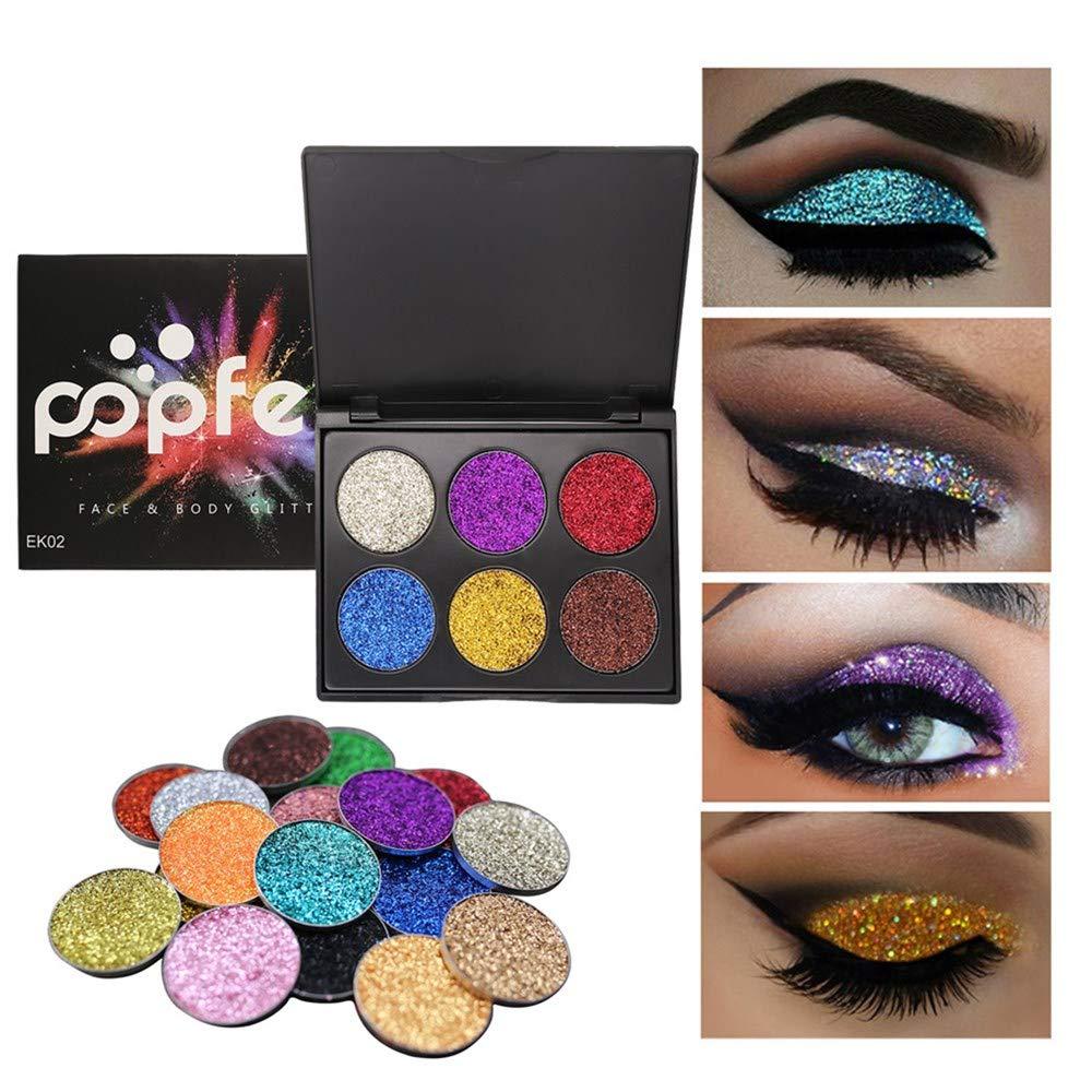 ❤️ Sunbona ❤️ Clearance Sale POPFEEL Shimmer Glitter Eye Shadow Powder Palette Matte Eyeshadow Cosmetic Makeup (B)