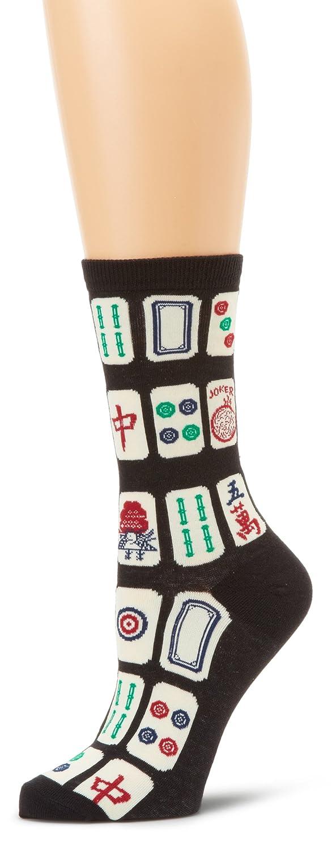 K. Bell Socks Women's Mah Jong Black 9-11 KBWF15H083-01