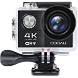 """COOAU 4K Full HD Action Camera Sport Cam WiFi, 2"""" inch LCD Screen 170° Wide Angle Lens Outdoor Camcorder for Bike Surfing Skiing Climbing with Portable Case and Kit of Accessories, Black"""