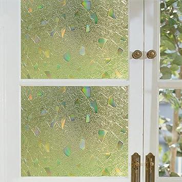 coavas decorative window film window decor anti uv glass film static cling stick decal colorful - Decorative Window Film
