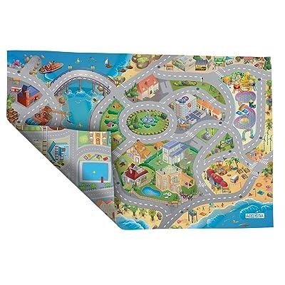 Achoka - 94074 - Alfombra de Juegos Reversible - Routes Borde de mar: Juguetes y juegos