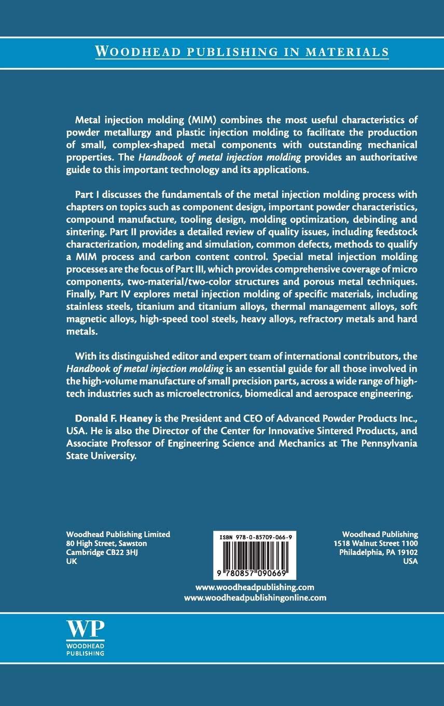 Handbook of Metal Injection Molding Woodhead Publishing