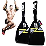 RIMSports Hanging Ab Straps for Pull Up Bar Attachment, Premium Ab Straps for Ab Workout, Gym Exercise Pullup Equipment for M
