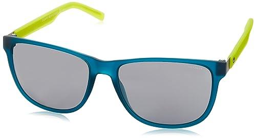 Tommy Hilfiger Unisex-Erwachsene Sonnenbrille TH 1403/S 3R Schwarz (Mt Teal Yllw), 56