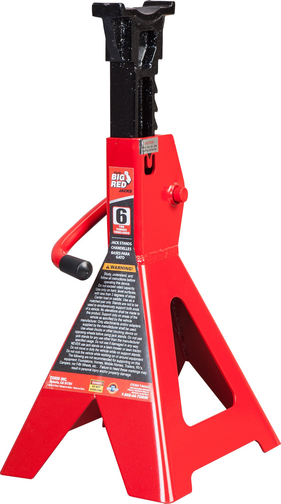 Torin Big Red Steel Jack Stand: 6 Ton Capacity, Single Jack by Torin (Image #1)