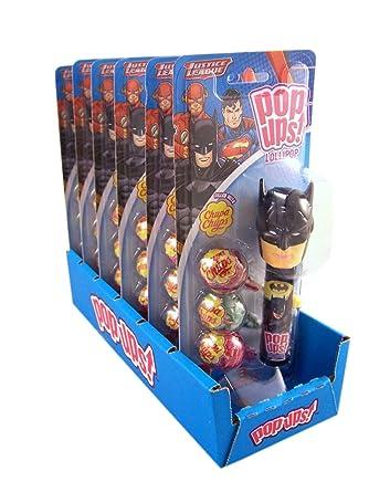 Liga de la Justicia Pop Ups Lollipop con tapa para Chupa ...