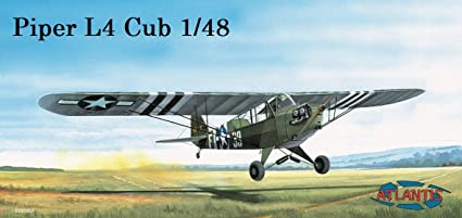 Amazon com: Piper L4- Cub 1944 Model Aircraft Kit 1/48
