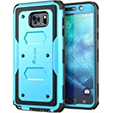 Galaxy Note 5 Case, i-Blason Armorbox Dual Layer Hybrid Full-body Protective Case For Samsung Galaxy Note 5 with Front Cover and Built-in Screen Protector / Impact Resistant Bumpers (Blue)