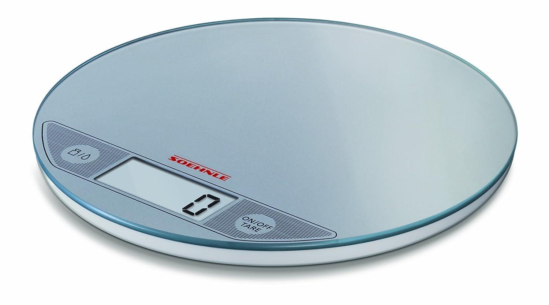 Soehnle 66161 Bilancia da Cucina Digitale Slim Flip Argento alimenti pesa