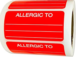 Allergies Stickers Fluorescent Red 1.26