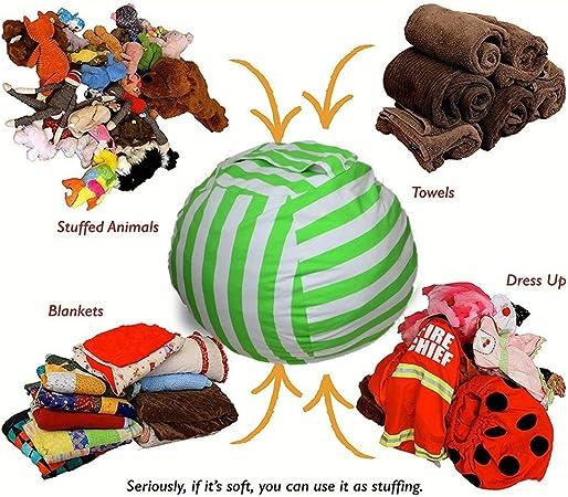 Bleu, S Sac de rangement rembourr/é pour animaux en peluche Sac de rangement rembourr/é pour animaux Sac de rangement rembourr/é en peluche pour grands enfants