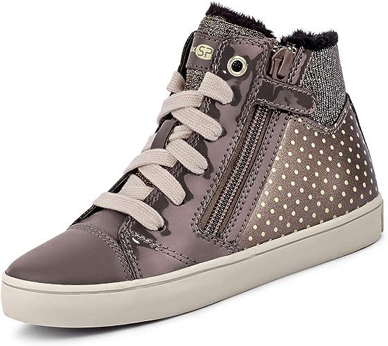 Geox Bambina Sneaker,Scarpe Sportive GISLI Girl, Ragazza Alto