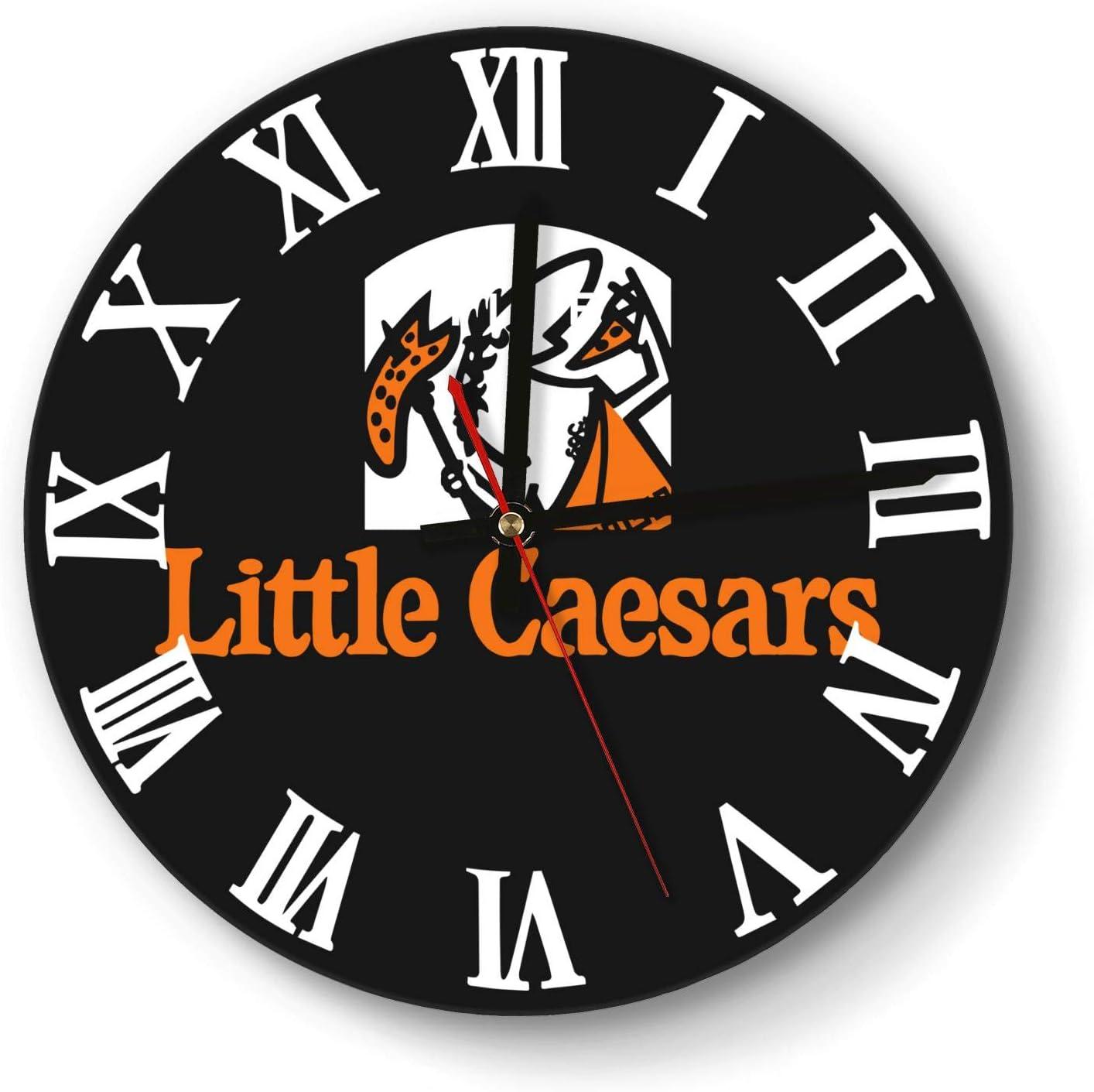ERTMU Wall Clock Simple Mute Little-Caesar-Stuffed-Crust-Pizza- Digital Clock for Office