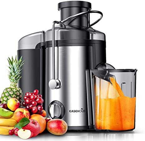 Amazon Com Easehold Juicer Machines Extractor 600w Centrifugal Juicers Electric Anti Drip Dual Speed Bpa Free With Juice Jug And Pulp Container For Fruit Vegetable Kitchen Dining