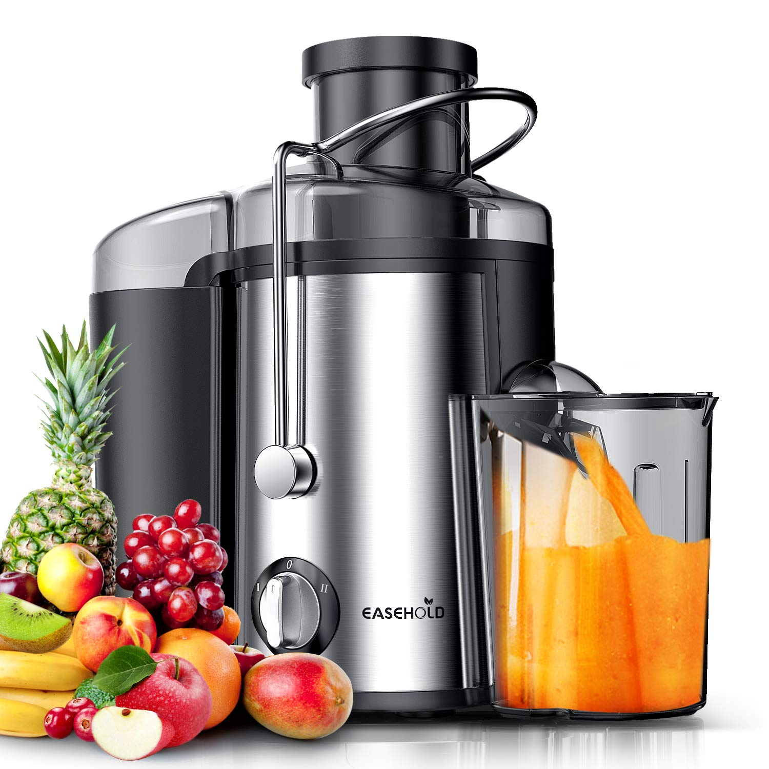 Easehold Juicer Machines Extractor 600W Centrifugal Juicers Electric Anti-Drip Dual Speed BPA-Free with Juice Jug and Pulp Container for Fruit Vegetable by EASEHOLD