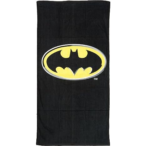 Full Size Black Batman Logo Toalla de Playa Piscina - Kids Toalla de ba_o