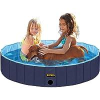 KOPEKS Piscina Pequeña Mediana Infantil Ideal para Niños/Mascotas Perros 80 x 20 cm - Azul Marino y Celeste - S/M