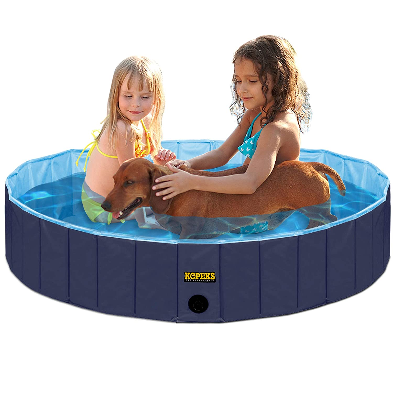 bluee Small bluee Small Outdoor Swimming Pool Bathing Tub Portable Foldable Ideal for Pets Small 32  x 8