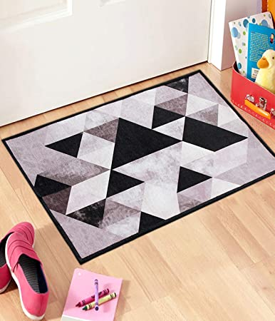 Cazimo Polyester Anti Skid 1 Piece Printed Door Mat Doormats