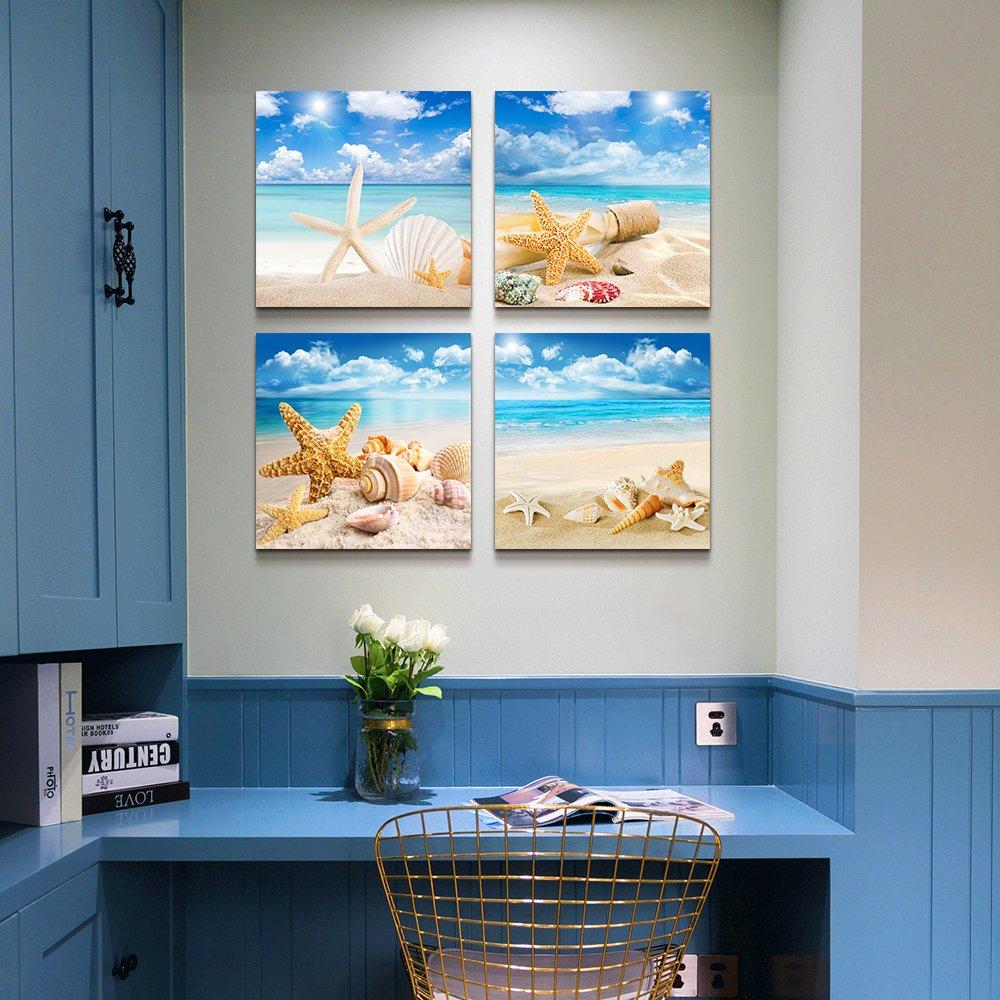 Amazon.com: Canvas Art SimpleLife -Blue ocean wall art- Painting ...