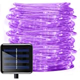 Aluvee Solar Rope String Light,Garden Decoration Outdoor Waterproof Rope Copper Wire String Christmas Lamp Wedding Party…