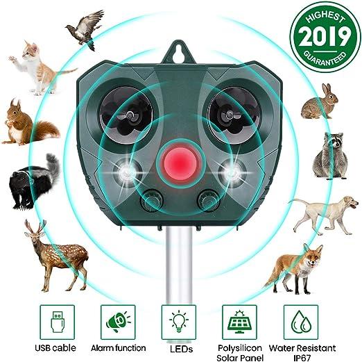 Solar~Sonic Cat Dog Fox Repeller Pest Deterent Repellent Garden Outdoor Defender