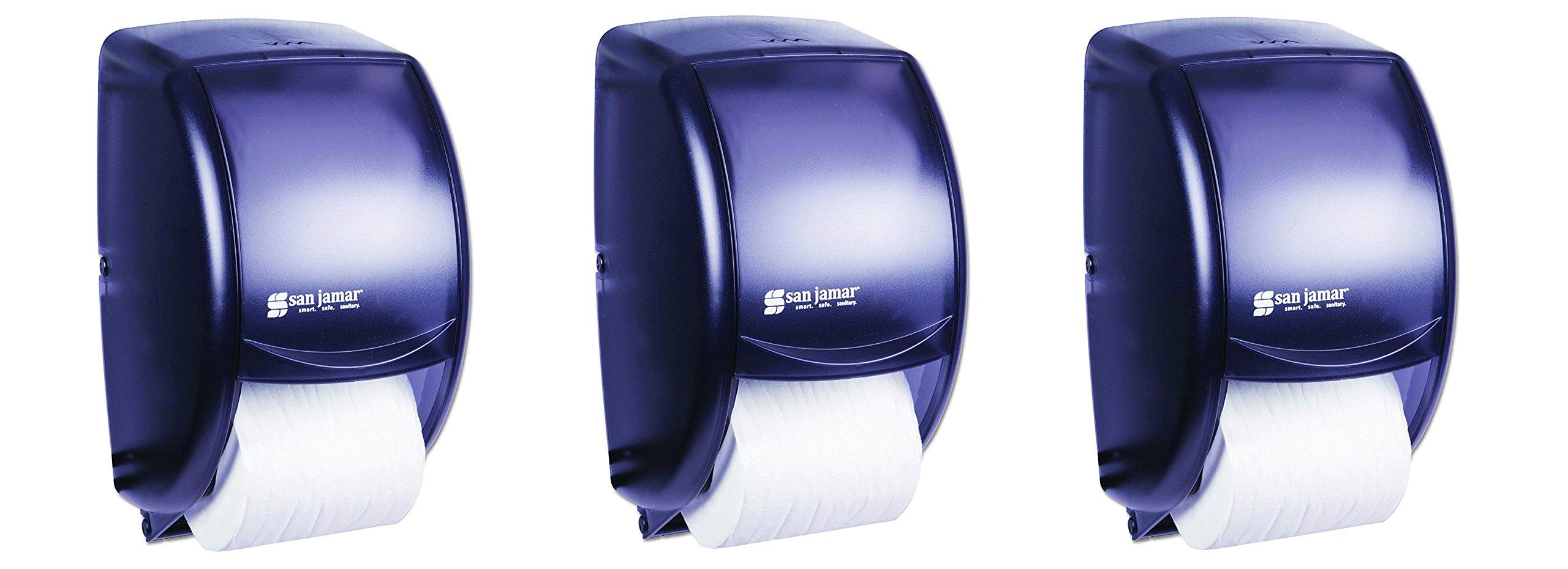 San Jamar R3500TBK Black Pearl Duett Standard Bath Tissue Dispenser (3.PACK)