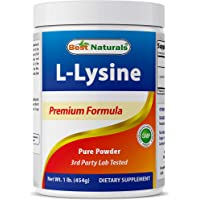Best Naturals Lysine Powder, 1 Pound - 100% Pure