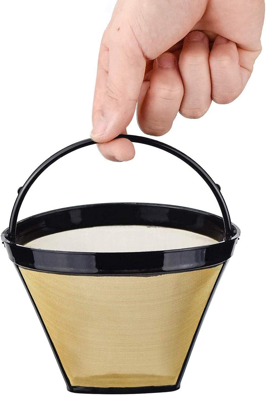 2 Pi/èCes Filtres /à Caf/é R/éUtilisables Maille Filtre /à Caf/é Filtre /à Caf/é Permanent Filtre /à Caf/é Manuel Acier Inoxydable Permanent R/éUtilisable Fine Net Avec Poign/éE Machin