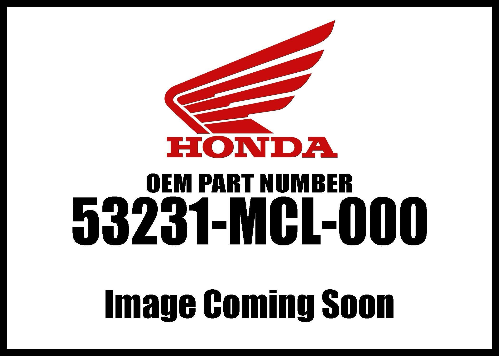 HONDA 53231-MCL-000 HLDR, HANDLE (LOWER)