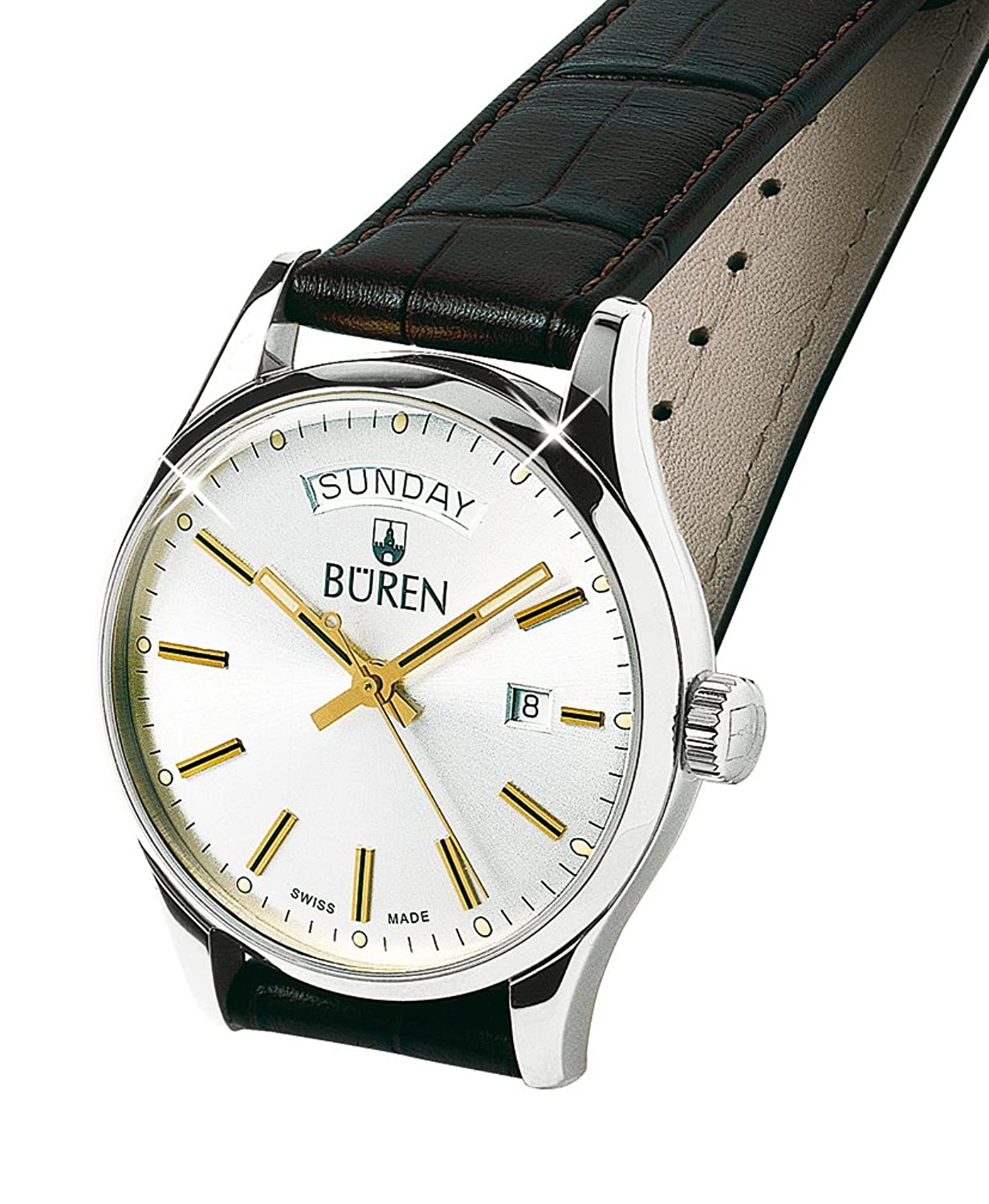 BÜREN Herrenuhr - Edition 1962 Day-Date