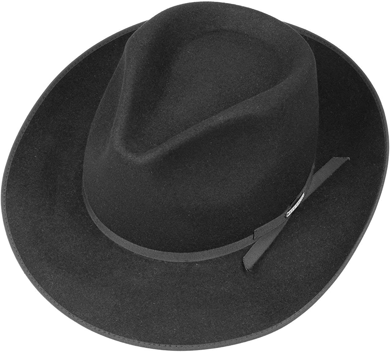 Made in The EU Felt Fur Fedora with Lining Piping Autumn-Winter Stetson Stratoliner Classic Men/´s Hat Men Grosgrain Band