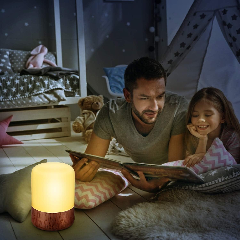 oficina y camping l/ámpara de noche de beb/é Zwini Luz de noche para ni/ños de silicona l/ámpara de noche con mando a distancia para dormitorio