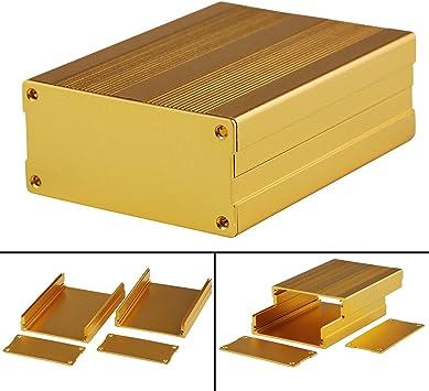 Caja de aluminio con circuito dorado para amplificador de proyecto electrónico, 100 x 76 x 35 mm: Amazon.es: Bricolaje y herramientas
