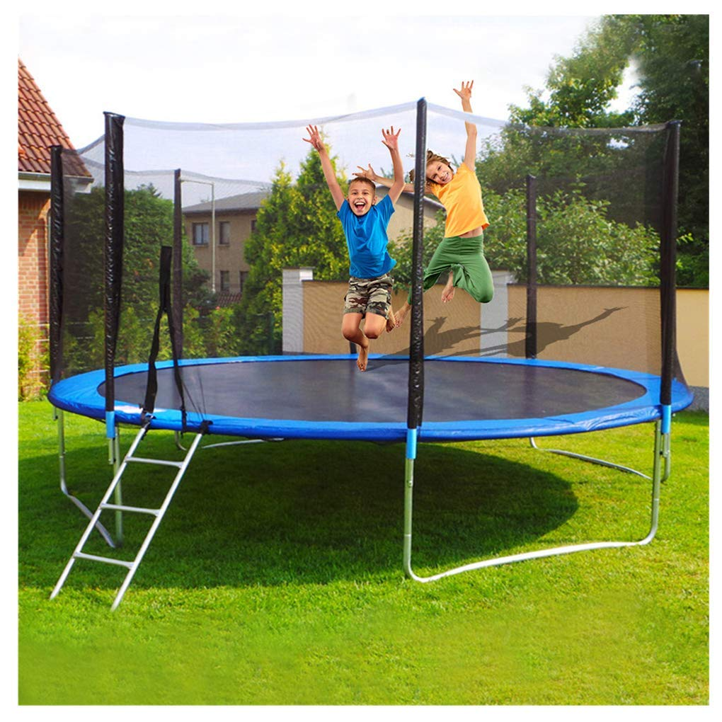 Kids Trampoline with Enclosure Outdoor, Midress 12 FT Kids Round Trampoline with Enclosure Net Jumping Mat and Spring Cover Padding for Family School Entertainment by Midress