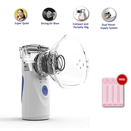Nebulizer Machine Portable Inhaler Mini Handheld Travel Steam Cool Mist Inhaler for Adults Kids