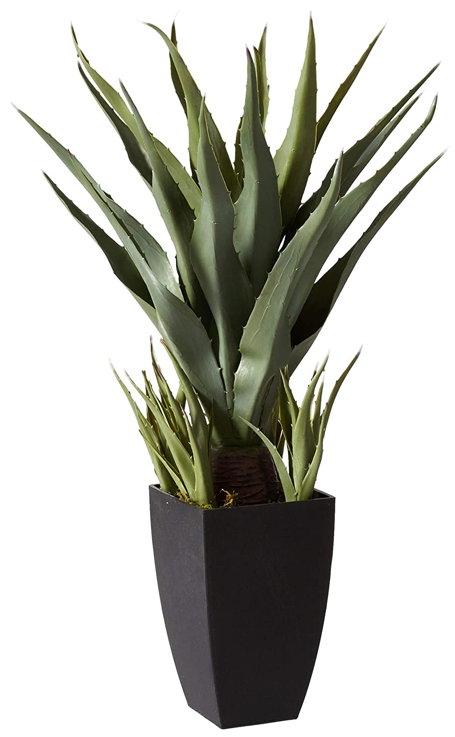 Nearly Natural 4856 Agave with Black Planter