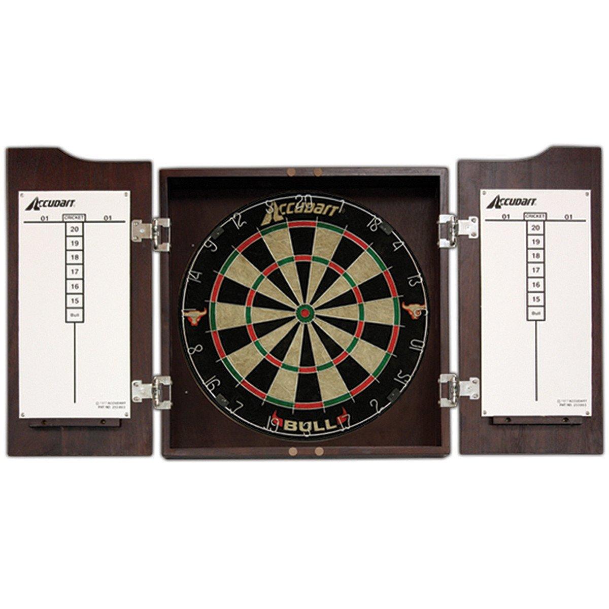 Accudart D4214 Bull Dartboard Cabinet and Set, Cabinets - Amazon ...