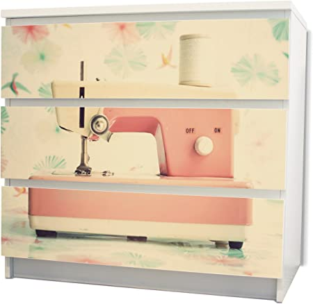 yourdea – Muebles cajón Pegatinas para cómoda de Ikea Malm con diseño: Máquina de coser: Amazon.es: Iluminación